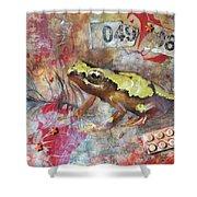 Frog Prince Shower Curtain by Jennifer Kelly