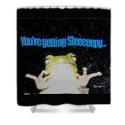 Frog  You're Getting Sleeeeeeepy Shower Curtain