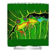 Froggie Trio Shower Curtain