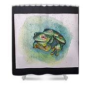 Frogs Of Borneo L Shower Curtain