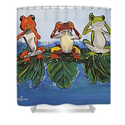 Frogs Without Sense Shower Curtain