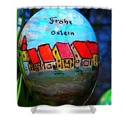 Frohe Ostern Shower Curtain
