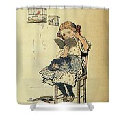 Frolic For Fun Girl And Bird Shower Curtain