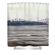 From Cramond To Forth Bridge, Forth Road Bridge, And Forth Crossing Shower Curtain
