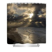 From Downhill To Donegal Shower Curtain
