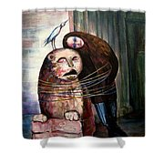 From Flesh To Stone Shower Curtain