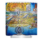 From Ground To Sky Shower Curtain