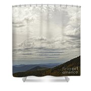 From Heaven To The Mountains Shower Curtain