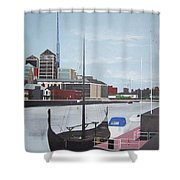 From Longboats To Pyramids Shower Curtain