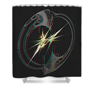 From Nothing - Use Red-cyan 3d Glasses Shower Curtain