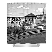 From Old To New In Bedford County Black And White Shower Curtain