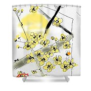 From Paper And Brush Shower Curtain