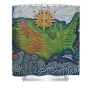 From Sea To Shining Sea Shower Curtain