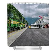 From Ship To Train Shower Curtain