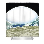 From Space Shower Curtain