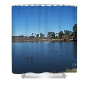 From The Bank Of The Lake In Eunice, Louisiana Shower Curtain