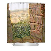 From The Castle Walls Shower Curtain