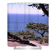From The Cliff Of Lands' End 02 Shower Curtain
