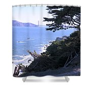 From The Cliff Of Lands' End 04 Shower Curtain