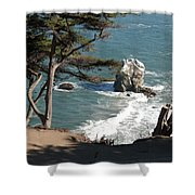 From The Cliff Of Lands' End Shower Curtain