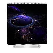 From The Depths Of Space Shower Curtain