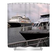 From The Ferry Dock Shower Curtain