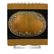 From The Foothills Bronze Tray Shower Curtain