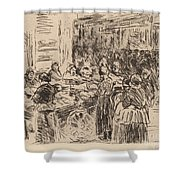 From The Jewish Quarter In Amsterdam: Fishmarket On The Street Corner Shower Curtain