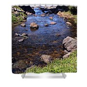 From The Mountains To The Sea Shower Curtain