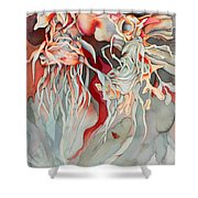 From The Ocean With Love Shower Curtain