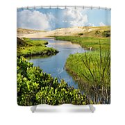 From The Sand Dunes To The Beach Shower Curtain