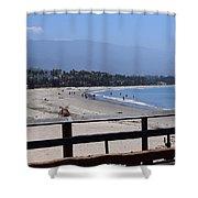 From The Santa Barbara Pier Shower Curtain