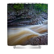 From The Top Of Temperence River Gorge Shower Curtain