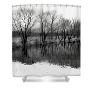 From The Wren Bridge Shower Curtain