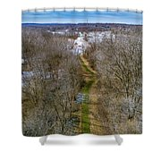 From Woods To Snow Shower Curtain