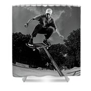 Front Board Jam Shower Curtain