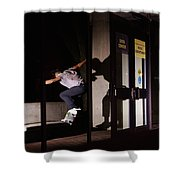 Front Crook Reflection Shower Curtain