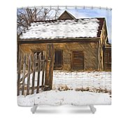 Pioneer Home Painterly Impression Shower Curtain