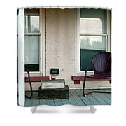 Front Porch In Moscow Ohio Shower Curtain