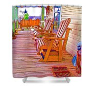 Front Porch On An Old Country House  1 Shower Curtain