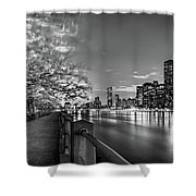 Front Row Roosevelt Island Shower Curtain