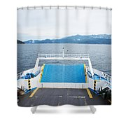 Front Side Of A Ferry  Shower Curtain