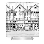 Front Street, Morro Bay Shower Curtain