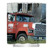 Front Of A Ford 9000 Powerhouse Shower Curtain