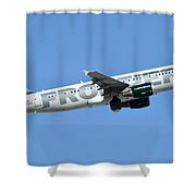 Frontier Airbus A319-214 N210fr Sheldon The Sea Turtle Phoenix Sky Harbor January 21 2016 Shower Curtain