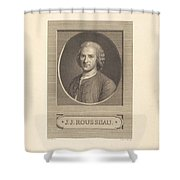 Frontispiece: J.j. Rousseau Shower Curtain
