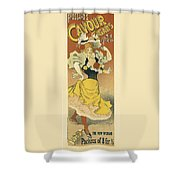 Frossards Cavour Cigars Vintage French Advertising Shower Curtain