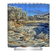 Frost Along The Creek Shower Curtain