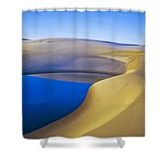 Frost And Ephemeral Pool Shower Curtain