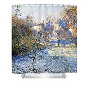 Frost Shower Curtain by Claude Monet